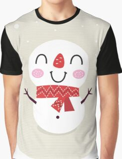 Beautiful funny Snowman { Retro style } Graphic T-Shirt