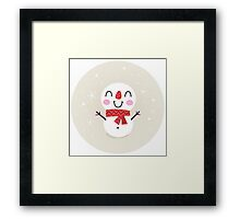 Beautiful funny Snowman { Retro style } Framed Print