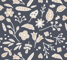 Pattern of Flowers in Frame Sticker