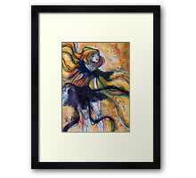 Ribbon Lady Framed Print