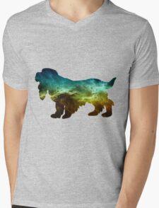 Galaxy Spaniel Mens V-Neck T-Shirt