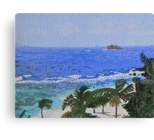 Atlantic side of St. Martin Canvas Print