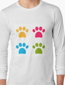 Colorful Doggie Paws collection - colorful Long Sleeve T-Shirt