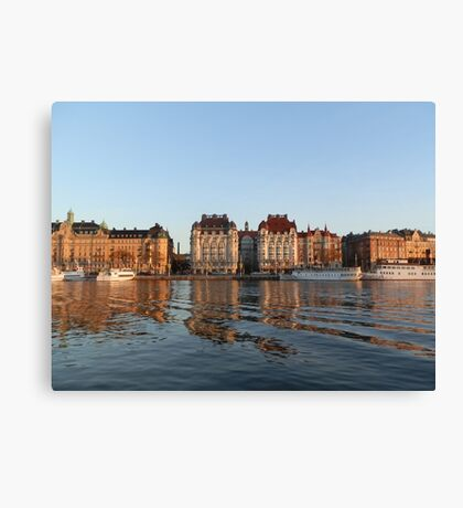 Early morning in Stockholm, Sweden Canvas Print