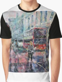 London Art - Red Bus Graphic T-Shirt