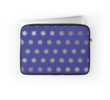 Ship's Wheel Gold and Royal Blue Products Laptop Sleeve