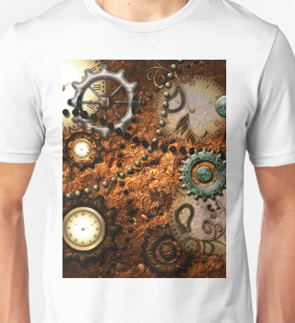 Steampunk, clocks and gears Unisex T-Shirt