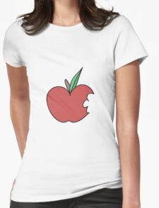 Bitten Apple Womens Fitted T-Shirt