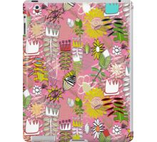 wired weed rose pink iPad Case/Skin