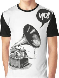 Hip-Hop Gramophone Graphic T-Shirt