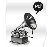 Hip-Hop Gramophone Poster