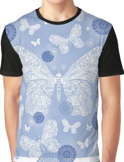 BLUE BUTTERFLY GARDEN Graphic T-Shirt
