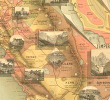 Map of California c1890s Sticker
