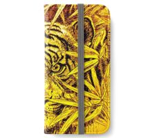 King of the Jungle in orange-yellow iPhone Wallet/Case/Skin