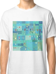 Blue town from the steps Classic T-Shirt