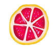 Grapefruit Slice Photographic Print
