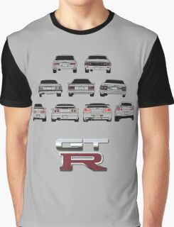 Nissan Skyline Black Graphic T-Shirt