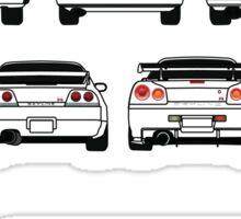 Nissan Skyline Black Sticker