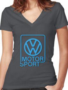 VW Motorsport Women's Fitted V-Neck T-Shirt