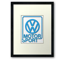 VW Motorsport Framed Print