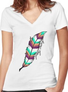 fly away Women's Fitted V-Neck T-Shirt