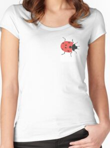 Oil Pastel LadyBird Women's Fitted Scoop T-Shirt