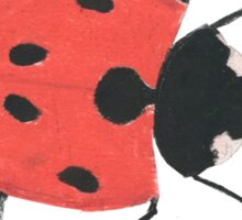 Oil Pastel LadyBird Sticker