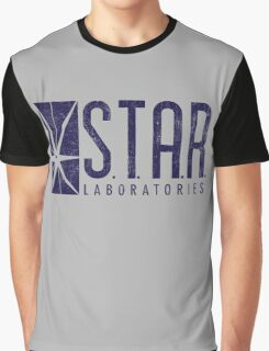 STAR Labs - Blue- Grunge Graphic T-Shirt