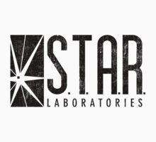 STAR Labs - Black - Grunge Kids Tee