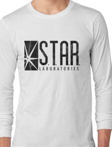 STAR Labs - Black - Grunge Long Sleeve T-Shirt