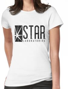 STAR Labs - Black - Grunge Womens Fitted T-Shirt