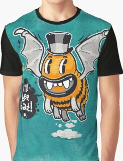 Cartoon Monster I'll Bee Bat Graphic T-Shirt