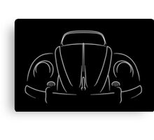 VW Bug - stencil Canvas Print