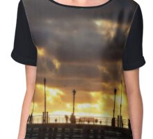 Sunset - Redondo Beach Pier  Chiffon Top