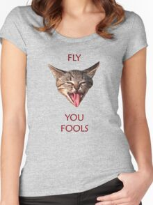 Fly you Fools Women's Fitted Scoop T-Shirt