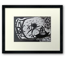 Confrontation in black and white Framed Print