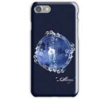 Always The Silver Doe - White Frame (Harry Potter) iPhone Case/Skin
