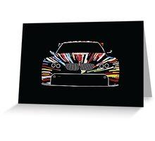 BMW Art Car Greeting Card