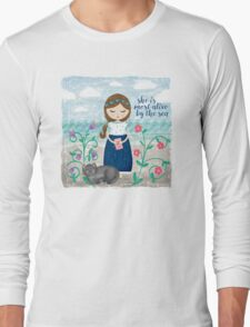She is most alive by the sea Long Sleeve T-Shirt