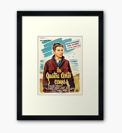 400 Blows - Francois Truffaut's French New Wave Classic Framed Print