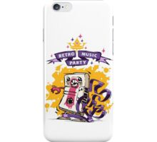 Retro Music Party Poster iPhone Case/Skin