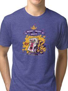 Retro Music Party Poster Tri-blend T-Shirt
