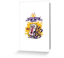 Retro Music Party Poster Greeting Card