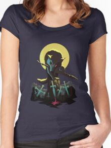 Sif the Great Grey Wolf Women's Fitted Scoop T-Shirt