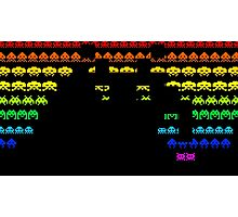 Colors Space Invaders Photographic Print