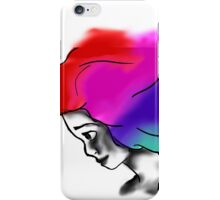 monochrome face and painted hair  iPhone Case/Skin