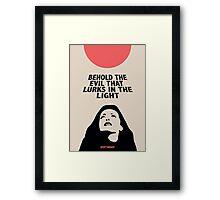 Behold The Evil / By Michael Pasterk / For SPOT THE DOT Framed Print