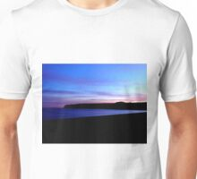 Sunset over Seaton beach Unisex T-Shirt