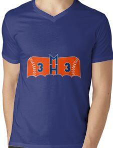 Dark Knight Harvey In Orange Mens V-Neck T-Shirt