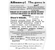 BBC Doctor Who and Sherlock Quotes Poster
